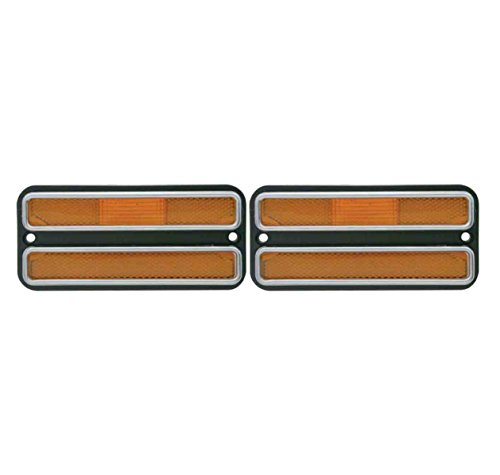 (2) 1968 – 1972 Chevy Truck Amber Front Clearance Side Marker Light Housings