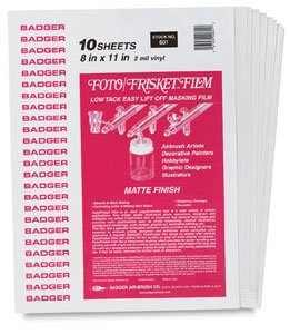 Frisket Film Matte - Badger Air-Brush Company 12-Feet Foto Frisket Film Roll, Matte
