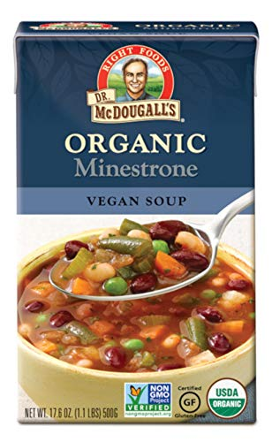 Dr. McDougall's Right Foods Soup,Organic Minestrone, 7.1 Pound (Pack of 6)