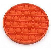 Pop it Bubble Sensory Fidget Toy Autism Stress Relief Silent Classroom Special Needs Stress Reliever - Orange