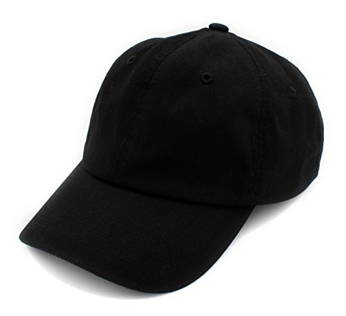 Adjustable Womens Cap (BRAND NEW 2016 Classic Plain Baseball Cap Unisex Cotton Hat For Men & Women Adjustable & Unstructured For Max Comfort Low Profile Polo Style  Unique & Timeless Clothing Accessories By Top Level, Black, One Size)