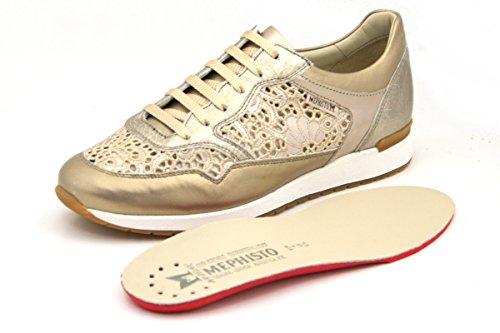 Mephisto Para Mujer Cordones Zapatos Metálico De Pq816wxP