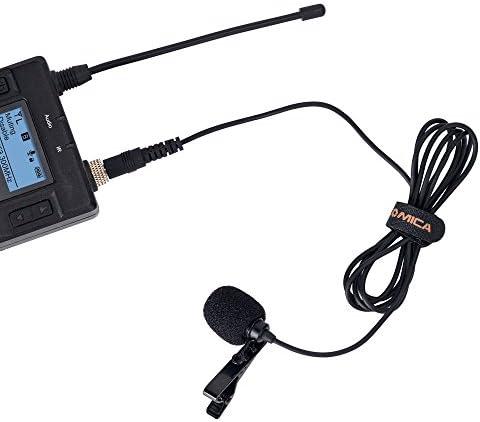 Comica CVM-M-O1 Micrófono de solapa lavalier omnidireccional para transmisor de micrófono inalámbrico (3.94 pies)
