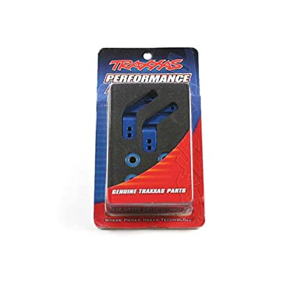 Traxxas 3652A Blue-Anodized 6061-T6 Aluminum Rear Stub Axle Carriers (pair): Toys & Games