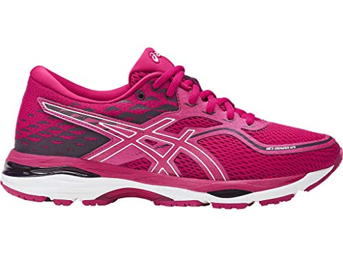 ASICS Women's Gel-Cumulus 19 Running Shoes, 7M, Pink/White/Winter Bloom