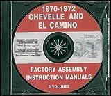 CD 1970-1972 Chevelle Assembly Manual El Camino Monte Carlo Malibu, SS