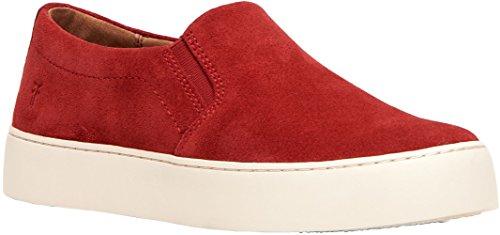 FRYE Women's Lena Slip ON Sneaker, red,