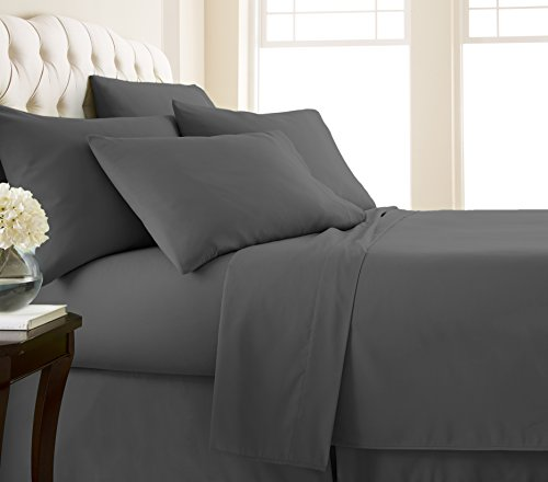 Southshore Fine Linens Vilano Springs Extra Deep Pocket Sheet Sets, Slate, King (6 Piece)