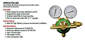 Flame Technologies HPPR-IN-700-580 High Pressure Piston Regulator for Inert Gases (Nitrogen and Argon) by Flame Technologies,Inc.