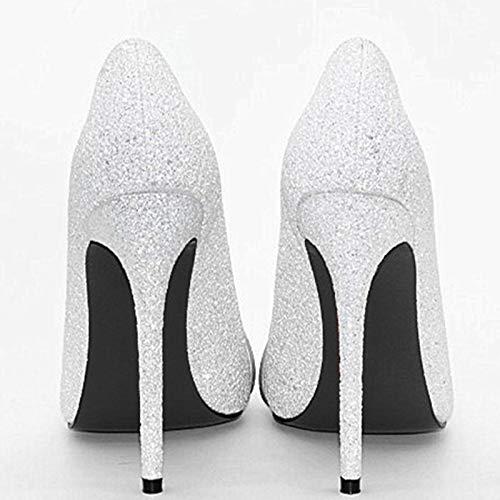 Zapatos Grande White Del Fin Bling Partido 43 Baile Superior Mujer Nuevo De Curso Bombas Tamaño Tacones Altos Hoesczs Reina 34 E4wRHvxq