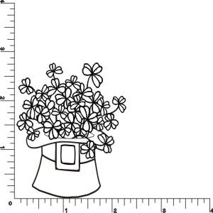 Hatfull of Shamrocks Rubber Stamp by DRS Designs