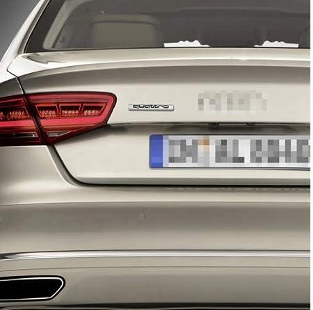 LINLINK Black Quattro Badge Sticker External Accessory Logo Emblem Chrome For Audi Car