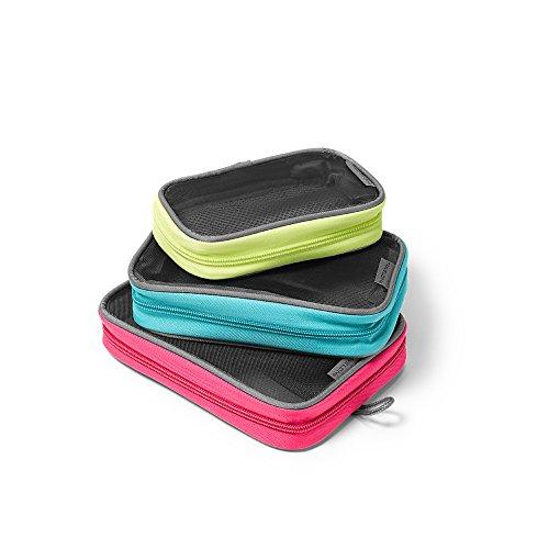 Eddie Bauer Unisex-Adult Travelon Packing Squares - Set of 3, Bright Pink...