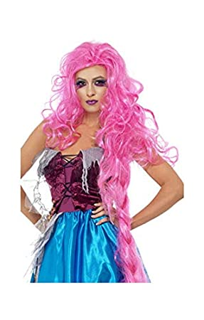 Rapunzel moderna peluca rosa