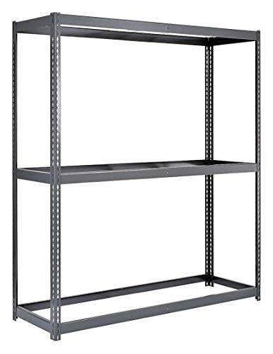 Edsal RL2452 Boltless Double Rivet Lock Bulk Storage Rack with Particle Board or Wire Decking, L Beam, 3 Levels, 1000 lb. Capacity, 60