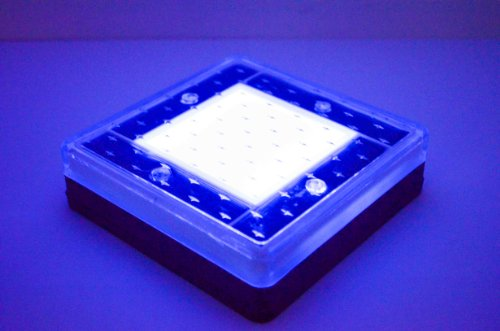 Super-Luminosity-Solar-Powered-Blue-LED-Brick-Pathway-Light-Pack-of-4