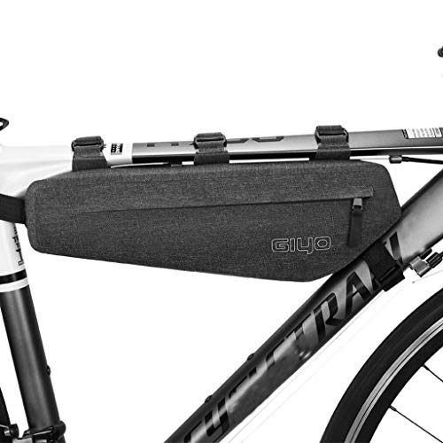 Sodoop Bike Bag, Waterproof Bicycle Zipper Frame Bags, Sport Bicycle Front Top Tube Mobile Phone Accessories Storage Bag, Road Mountain Cycling Pack Strap Triangle Saddle Frame Pouch