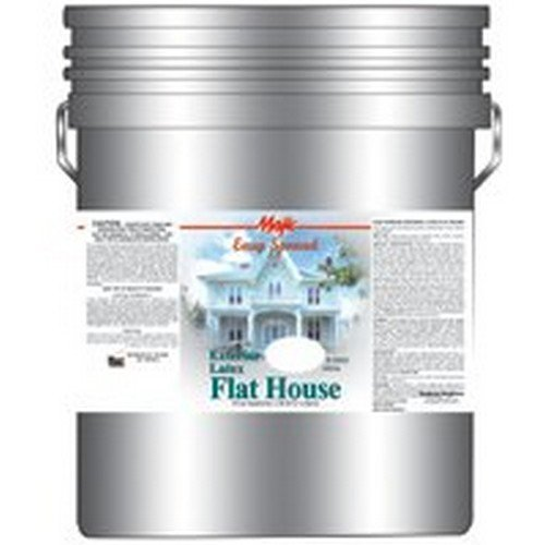 YENKIN MAJESTIC PAINT EXT LAT 8-2000-5 Exterior Latex Flat House, 5 gal