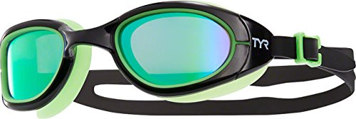 TYR Special Ops 2.0 Polarized Goggles, Green/Black Fluorescent Green, One Size (Water Special)
