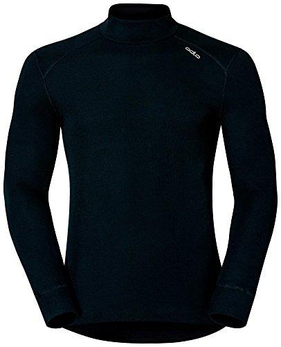 Col Homme shirt Originals Chaud Odlo Manches Longues T Noir Warm Droit PXnO80wk