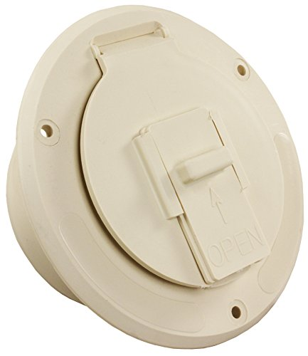 (JR Products (S-23-14-A Colonial White Economy Round Electric Cable Hatch)