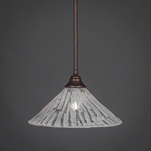Toltec Lighting 26-BRZ-719 Stem Pendant Light Bronze Finish with Italian Ice Glass, 16-Inch - Glasses 719