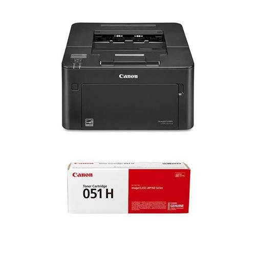 Canon imageCLASS LBP162dw Wireless Monochrome Mobile Ready Duplex Laser Printer, 30ppm, 250 Sheet Capacity - With 051H Black Toner Cartridge 4000 Pages - Mobile Printer Memory