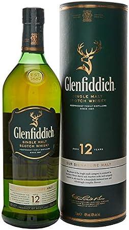 Glenfiddich Glenfiddich 12 Years Old Single Malt Scotch Whisky 40% Vol. 1l in Giftbox - 1000 ml