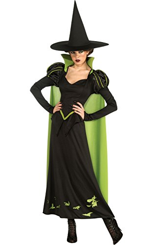 Oz Wizard Of Costumes (Rubie's Costume Wizard Of Oz 75th Anniversary Edition Adult Wicked Witch Of The West, Black/Green, One Size)