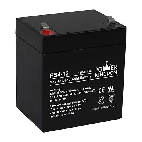 Price comparison product image Power Kingdom 12v 4ah Sealed Lead Acid (Rechargeable) Battery for ups and Alarm System with T1 termina
