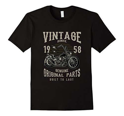 60th Birthday 1958 Vintage Retro Motorcycle Chopper - T-shirt Chopper Motorcycle