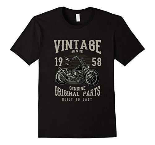 - 60th Birthday 1958 Vintage Retro Motorcycle Chopper Tshirt