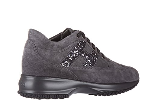 Hogan scarpe sneakers donna camoscio nuove interactive lavorazione h spezzata ri