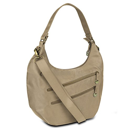 Travelon Convertible Hobo with RFID Protection - Champagne from Travelon