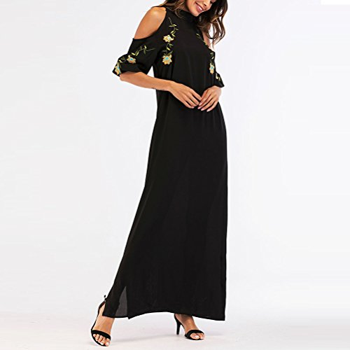 Nero di Donne Kimono Party Ladies Elegante Wear Abito 1 TAAMBAB per Abiti Musulmano Lunghi Tunica Kaftan Lusso Lunghi wFaU7Bx