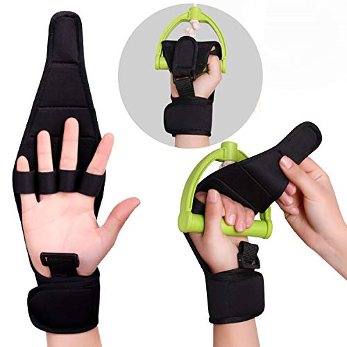 (Fingers Support Training Brace, Stroke Rehab Arthritis Gloves, Thumb Wrist Injury Recovery Splint, Finger Separator Hand Orthotics Carpal Tunnel, Joint Pain Relief Corrector - Any Age Women Wen (1))