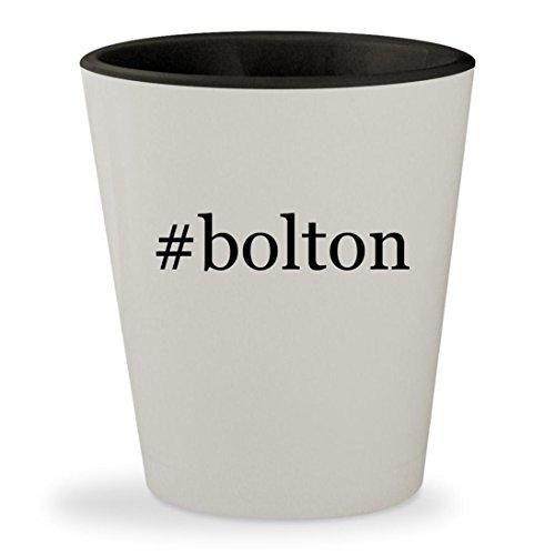 #bolton - Hashtag White Outer & Black Inner Ceramic 1.5oz Shot Glass - Gwyneth Doll
