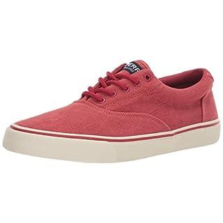 Sperry Mens Striper II CVO Twill Sneaker, Red, 12