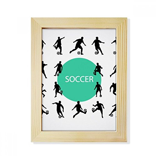 DIYthinker Football soccer Sports Silhouettes Desktop Wooden Photo Frame Picture Art Painting 6x8 inch by DIYthinker