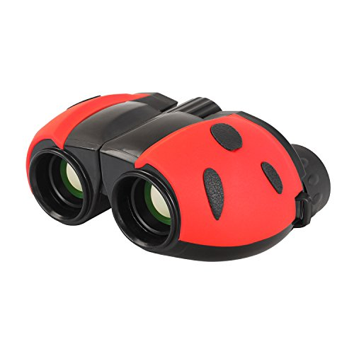 Aomekie Kids Binoculars 8X22 Ladybug Design Optical Glass Lens Outdoor Birdwatching Gift (Concept Two Premium Boat)