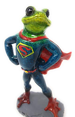 - GSC Super Frog The Hero Novelty Frog Figurine Standing 7.5 Inches Tall