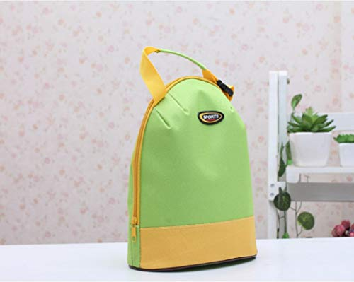 Ying weifeng Lunch Bag Handbag Lunch Bag Insulation and Cold Cool Cute Lunch Bag Tote Bag Waterproof Zip Stripe Large Capacity Lightweight (Color : (Gore Waterproof Oxfords)