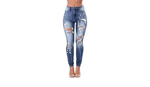 Vaqueros Strir Vaqueros Mujer Push Up Tejanos Mujer Cintura Alta Pantalones Pitillos Elasticos Rotos Agujero Casuales Jean De Mujer Ropa Reskill Uom Gr