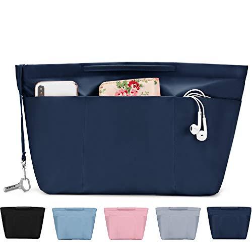 - Bridawn Nylon Tote Organizer Purse Insert Pocketbook Organizer Insert Handbag Divider with Handles Zipper Closure