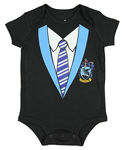 Harry Potter Unisex Baby Hogwarts Houses One Piece Snapsuit (Ravenclaw 24M)