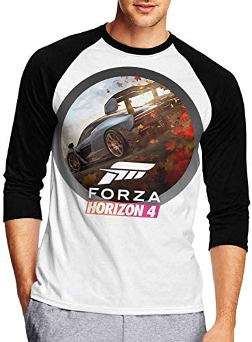 EDGHUOEIH Forza Horizon 4 Mens or Youth 3/4 Sleeve Baseball Tee Shirts