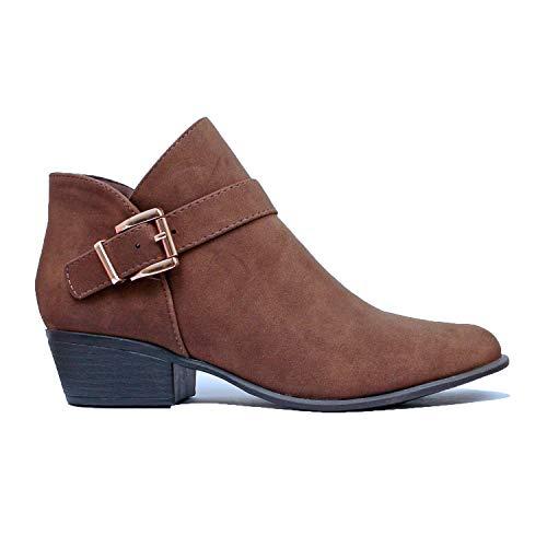 Heel Boots Stack Platform (Guilty Heart | Gary-10 Brown Nubuck, 8)