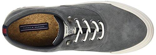Heritage Sneaker da Suede 007 Tommy Uomo Basse Charcoal Ginnastica Hilfiger Scarpe Grigio OHt1xwx5