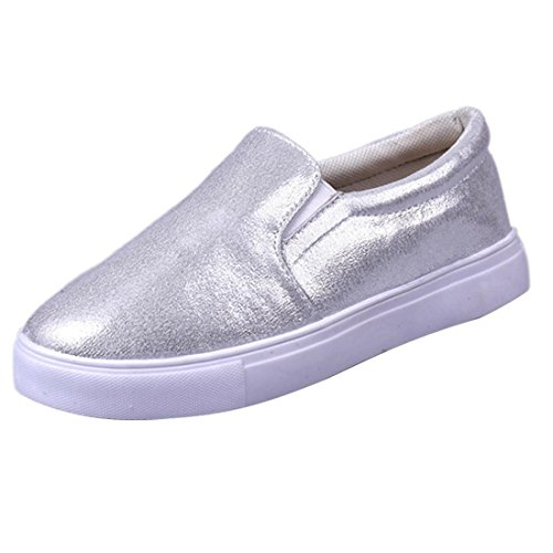 Malloom® Sandalen, Frühling Frauen Loafers Mode Casual Flats Schuhe Slipony Lazy Sportschuhe Silber