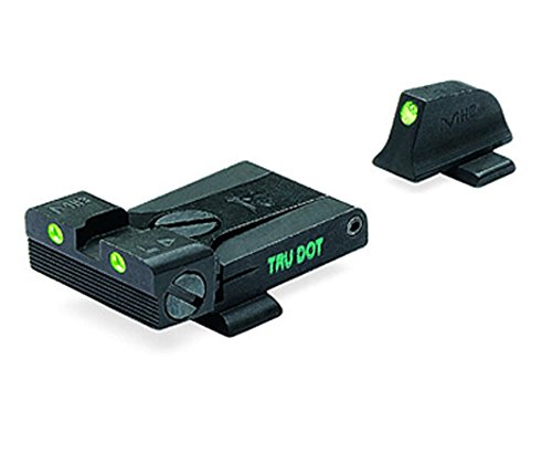 Meprolight Sig Sauer Tru-Dot Night Sight. Adjustable set for pistols with #8 frt. & rear sights (Adjustable Pistol Sights)
